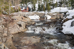 Cabin on the Yuba River at Donner Summit Stock Photo