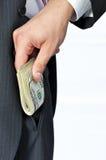 Donner un paiement illicite Photographie stock
