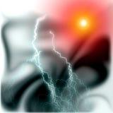 Donner und kosmische Lichter, Hintergrund Lizenzfreie Stockfotos