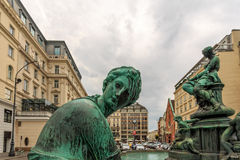 Donnerbrunnen is a Baroque fountain Royalty Free Stock Photo