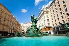 Donnerbrunnen fountain in Austrian capital Stock Photo