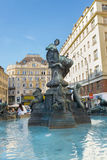 Donnerbrunnen fountain - Vienna Stock Photo