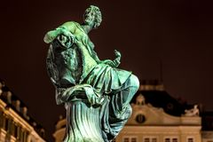 Donnerbrunnen fountain in Vienna in Christmas time. Austria Stock Photos