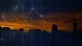 Donnervideo und -Stadtbild