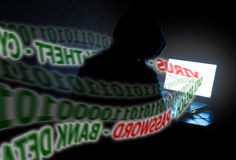 Données volées de vol d'identité d'ordinateur Photo libre de droits