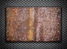 Donnez à la grille une consistance rugueuse rouillée en métal sur le fond, 3d, illustration Images libres de droits