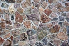 Donnez à la vieille brique ou au mur une consistance rugueuse en pierre fait en fond de pavés ronds Image stock