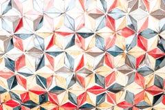 Donnez à un style une consistance rugueuse fait main plus ancien de vintage d'illustration de mur de triangle de couleur Photographie stock libre de droits