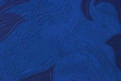 Donnez au bleu une consistance rugueuse avec cannelé Couleur bleue profonde, en gros plan photo libre de droits