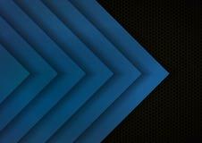 Donnez au fond une consistance rugueuse bleu et noir de couche illustration stock