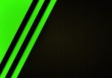 Donnez au fond une consistance rugueuse foncé avec le Web de Ligne Verte illustration de vecteur