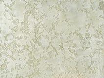 Donnez au plâtre une consistance rugueuse vert décoratif imitant le vieux mur d'épluchage Photos libres de droits