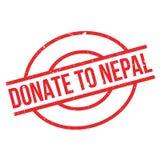Donnez au tampon en caoutchouc du Népal Photos libres de droits