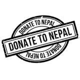 Donnez au tampon en caoutchouc du Népal Images libres de droits