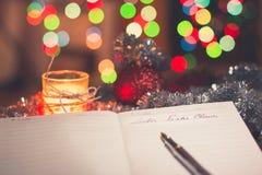 Donnez des instructions un repaire Weihnachtsmann photo libre de droits