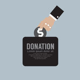 Donnez l'argent au concept de charité Images stock