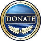 Donnez l'icône ronde de label d'or illustration de vecteur