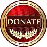 Donnez l'icône ronde de label de vintage rouge illustration stock