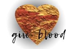 Donnez la campagne d'affiche de sang pour le donneur de sang image libre de droits