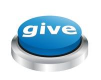 Donnez - le bouton de charité Image stock