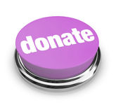 Donnez - le bouton pourpré Images libres de droits