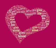 Donnez le sang Image stock