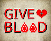 Donnez le sang, donnez le concept Images stock