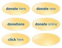 Donnez les boutons Images libres de droits