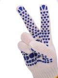 Donnez les expositions fonctionnantes de gant la lettre Victoria Photo stock