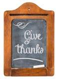 Donnez les mercis - concept de thanksgiving photos stock