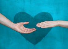 Donnez-moi votre main Photo libre de droits