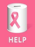Donnez pour la recherche sur et la prévention cancer du sein Images libres de droits