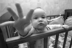 Donnez pour toucher un objectif Photos stock