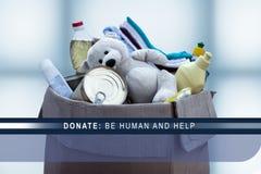 Donnez, soyez humain et aide photos stock