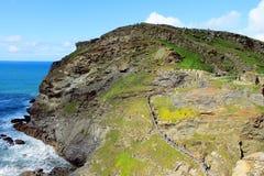 Donnez sur de la côte de Tintagel Photos stock