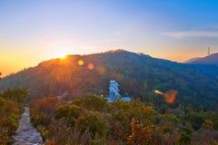 Donnez sur le coucher du soleil du nord de porte de ciel Photos libres de droits