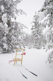 Donnez un coup de pied hors fonction le traîneau en Suède image stock