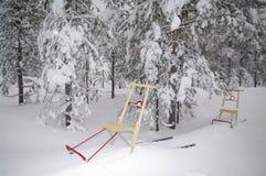 Donnez un coup de pied hors fonction le traîneau en Suède Photographie stock libre de droits