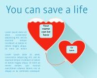 Donnez votre sang Photo libre de droits