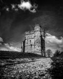 Donnington Castle. Black & White Castle Royalty Free Stock Photography