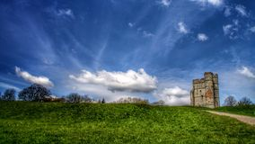 Donnington Castle. Castle sky landscape Royalty Free Stock Photo