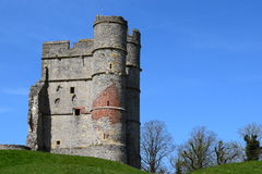 Donnington-Schloss Gatehouse (Seitenansicht) - Newbury Stockfotografie