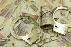 dono arrestato per corruzione - immagine di riserva con le mani nel sacco presa immagine stock