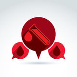 Donor blood and Circulatory system icon, vector conceptual styli Royalty Free Stock Photos