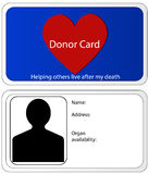 Donor Card Royalty Free Stock Images