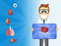 Donor card Stock Photography