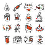 Donor Icon Set Stock Photography
