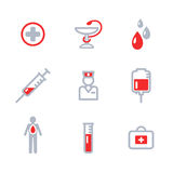 Donor Icons Set. Blood Donation Royalty Free Stock Photography