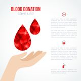 Donor Poster or Flyer Stock Photography