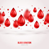 Donor Poster or Flyer. Blood Donation Lifesaving. And Hospital Assistance. Vector illustration. World Blood Donor Day Banner. Creative Blood Drops. Medical royalty free illustration